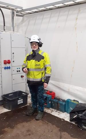 Arto Liisanantti biotuotetehtaan työmaalla